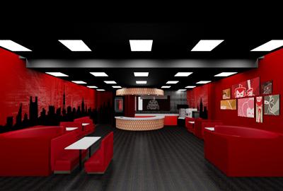 Interior of Red Samurai Chinese & Sushi Restaurant Jackson MS